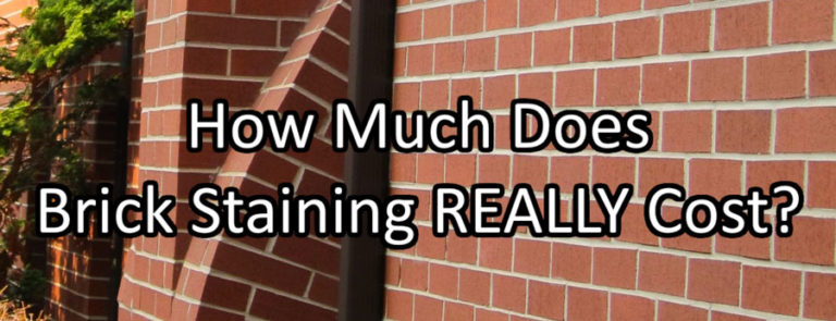 Cost Of Brick Staining Vs Painting
