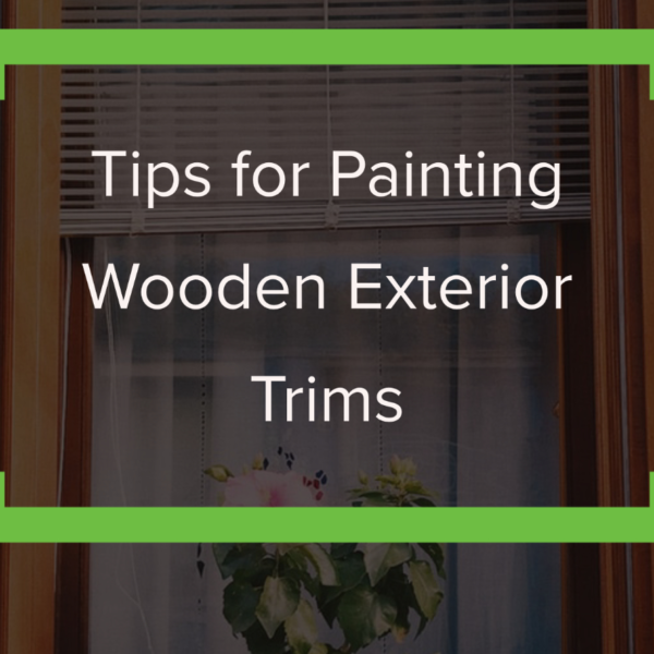 painting wooden exterior trims
